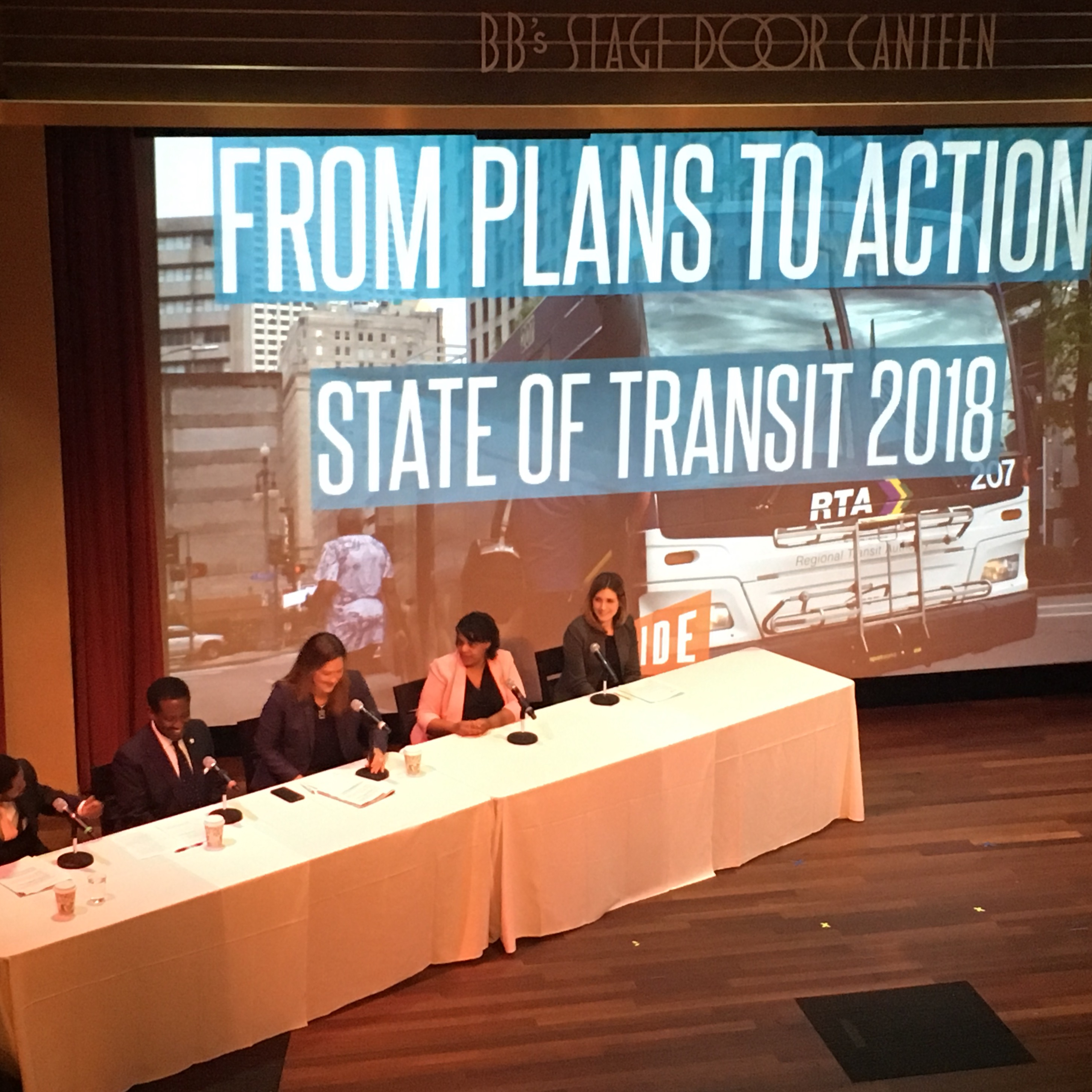 Panel of speakers at the State of Transit