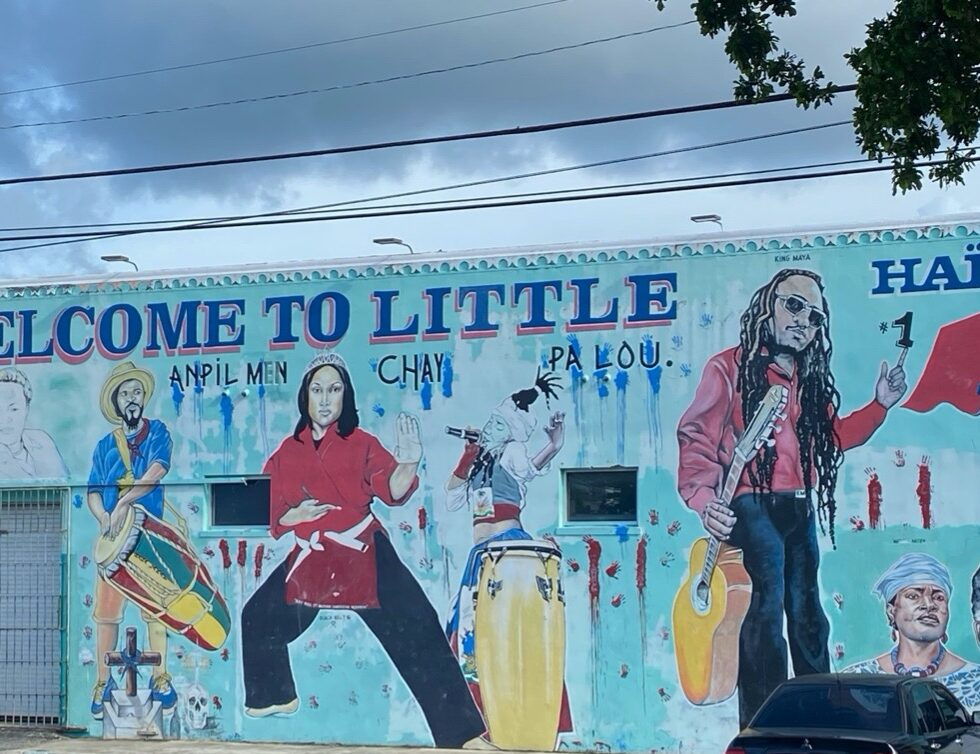 Mural that commemorates Haitian leaders who helped to develop and protect Little Haiti (Miami, Florida).